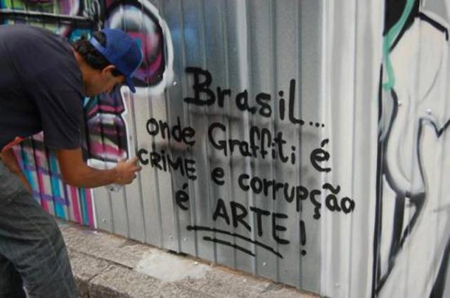 Grafite é crime