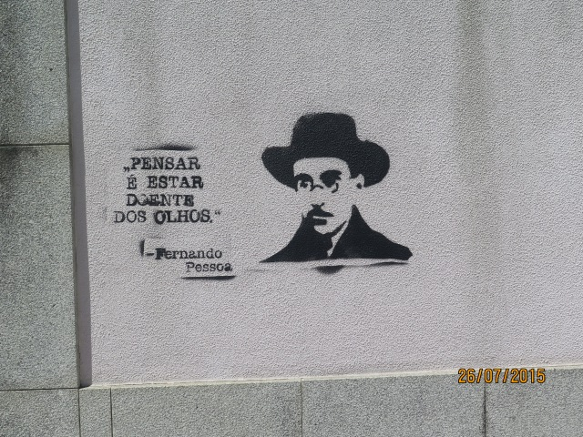 As paredes de Lisboa.