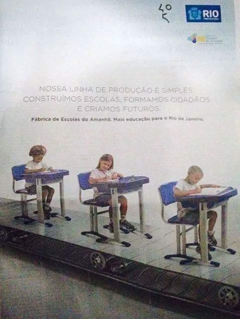 Linha de montagem educação