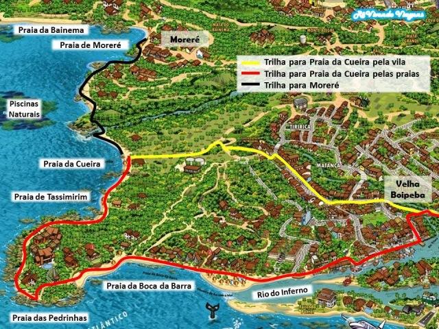 Boipeba mapa